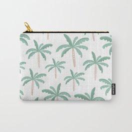 Lush tropical palm trees hawaiian beach pattern Carry-All Pouch