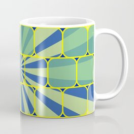 Abstract geometric blue Coffee Mug