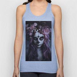 Zombie face tattoo girl Unisex Tank Top
