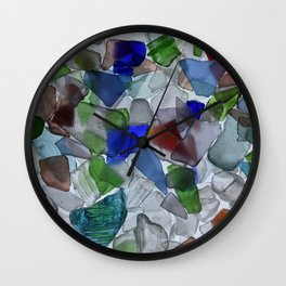 Seaglass Wall Clock