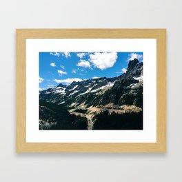 Cascade Mountains Framed Art Print