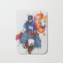 Captain of America Abstract Painting Bath Mat