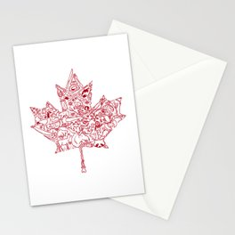 Maple Leaf - red Stationery Cards