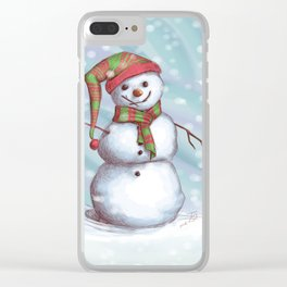 Snowman Clear iPhone Case