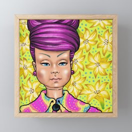 Mily with Lillies Framed Mini Art Print