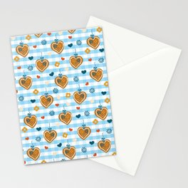 Oktoberfest Gingerbread Hearts Stationery Cards