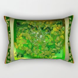 Leaf Ghosted Pentacle Rectangular Pillow