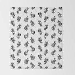 Palm Frond Throw Blanket
