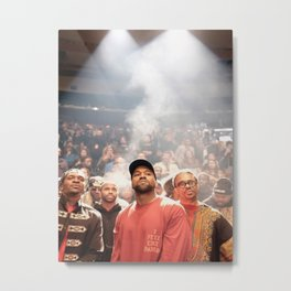 KanyeWest music star pop music Silk poster Metal Print