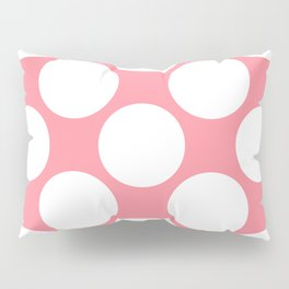 Polka Dots Pink Pillow Sham