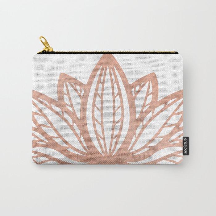 Lotus Flower Outline Tattoo Rose Gold Foil Boho Chic Floral Design