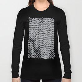Hand Knit Light Grey Long Sleeve T-shirt