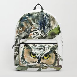Great Horned Owl in Woods Backpack