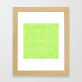 Brian's Bubbliscious Pattern (Lemon Lime Fizz) Framed Art Print
