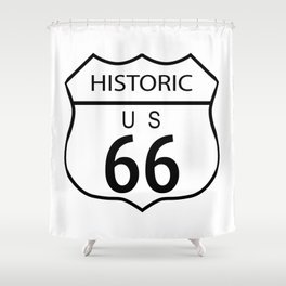 Route 66 Historic Shower Curtain