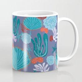 Cute Vibrant Coral Cluster Pattern in Blues II Coffee Mug