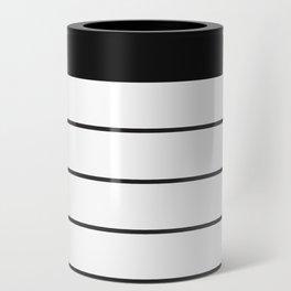 SKINNY STRIPE ((black on white)) Can Cooler