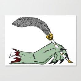 Love Letter Zombie Canvas Print