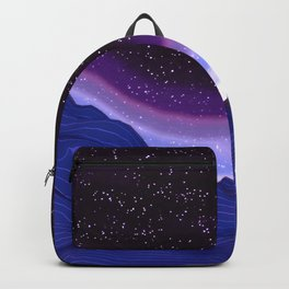 Mountains in Space Backpack