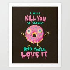 Killer Donut Art Print