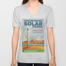 US Department of Energy LPO Poster - Concentrating Solar Power (2016) Unisex V-Neck