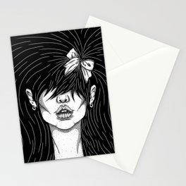 Girl With a Ribbon  Stationery Cards