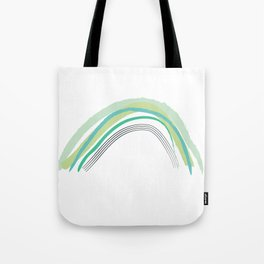 Green Rainbow Pattern Tote Bag