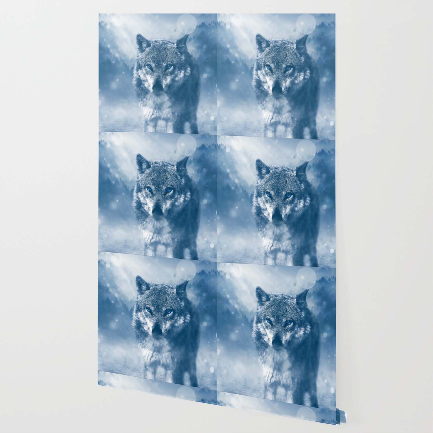 Winter Snow Wolf Animal Mystical Wallpaper By Shirtsandgifts Society6