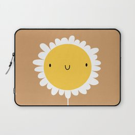 Birthday card with cute flowers and animals in trendy flat style childish print for nursery in a sca Laptop Sleeve