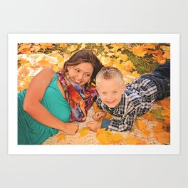 Family Shoot-Bree & Silas1 Art Print