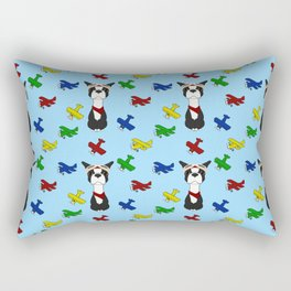 Bobble Pilot Boston Terrier Rectangular Pillow