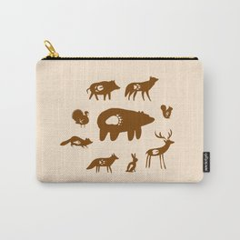 Nature Trail in Coffee and Cream Carry-All Pouch