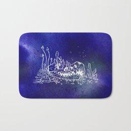 Dino skull – Blue Bath Mat