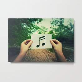 holding music note Metal Print