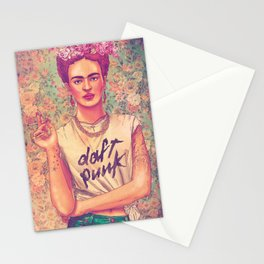 daft frida punk Stationery Cards
