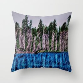 Church Pond White Mountains, New Hampshire Landscape Painting by Jeanpaul Ferro Throw Pillow