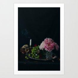 Skull & Grapes by Brenna Parkins Art Print
