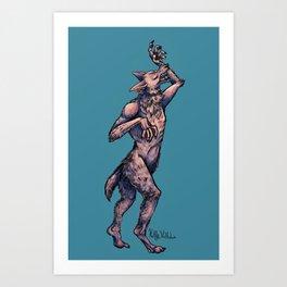 Virgo Werewolf Art Print