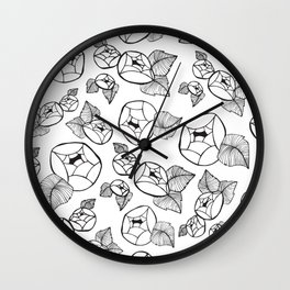 Falling Florals Wall Clock
