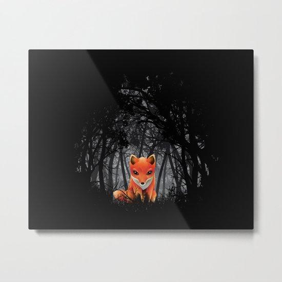 Vulpes Vulpes  at  Night Metal Print