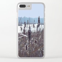Cattails Clear iPhone Case