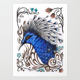 The Crowned Pigeon Art Print