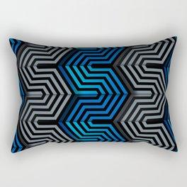 Technologic industrial hexagonal surface Rectangular Pillow