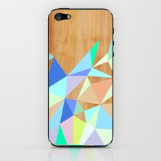 Wooden Geo Aqua iPhone & iPod Skin