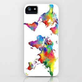 world map colorful 2 iPhone Case