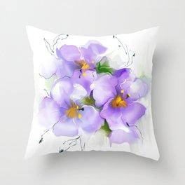 first violet Throw Pillow