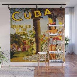 Cuba Holiday Isle of the Tropics Wall Mural