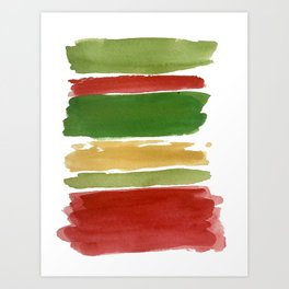 Christmas Colour Palette Art Print
