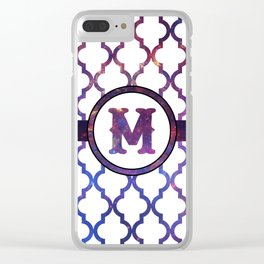 Galaxy Monogram: Letter M Clear iPhone Case