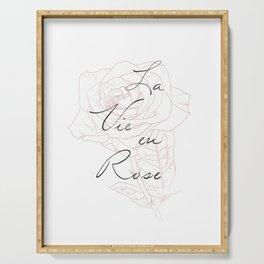 La Vie eu Rose Serving Tray